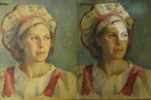 Woman Painting Restoration